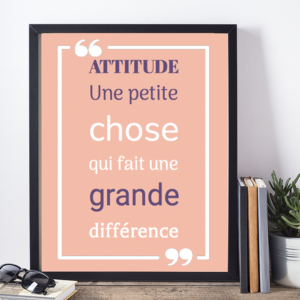 Affiche citation Churchill attitude