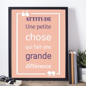Affiche citation Churchill attitude
