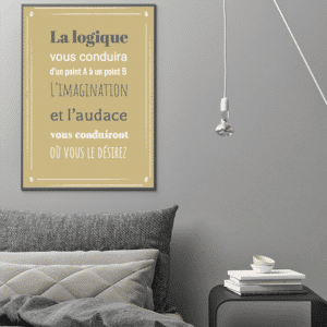 Affiche citation einstein audace