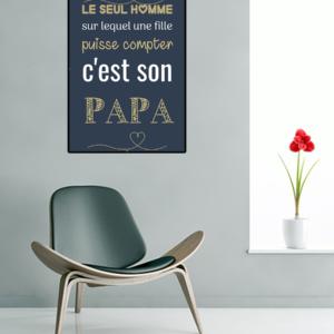 """tableau ou poster personnalisé citation """"le seul homme"""""""