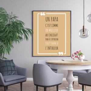 """tableau ou poster personnalisé """"un papa c'est comme"""""""
