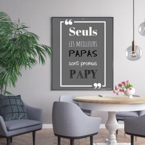 """tableau ou poster personnalisé citation """"les meilleurs papas"""""""