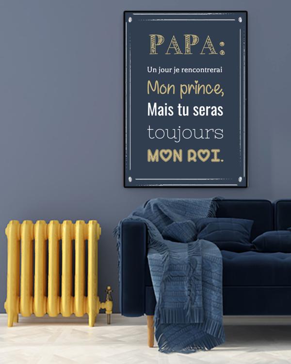 """tableau ou poster personnalisé """"papa: un jour"""""""
