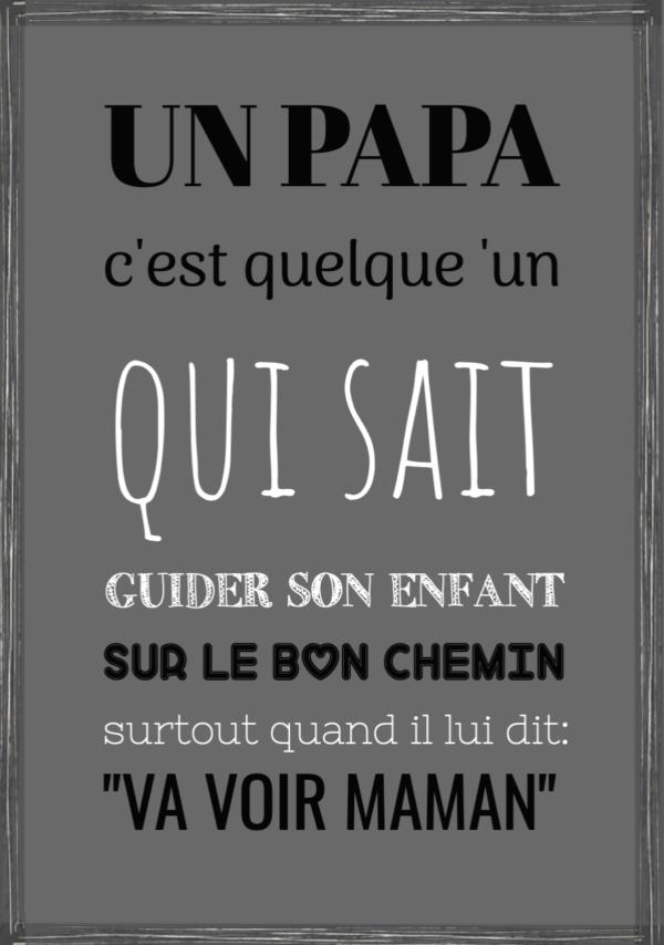 """tableau ou poster citation personnalisée """"un papa"""""""