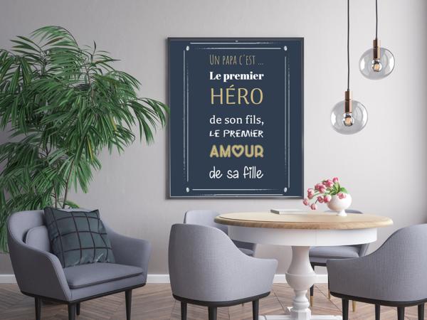 """tableau ou poster personnalisé """"un papa c'est"""""""