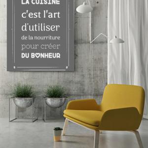 """tableau ou poster personnalisé """"la cuisine"""""""