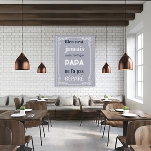 """tableau ou poster personnalisé """"papa"""""""