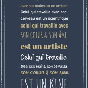 """tableau ou poster personnalisé """"un kine"""""""