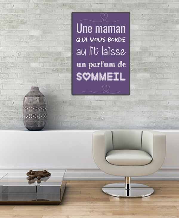 """tableau ou poster personnalisé """"une maman"""""""