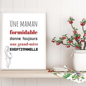 """tableau ou poster personnalisé """"une maman formidable"""""""