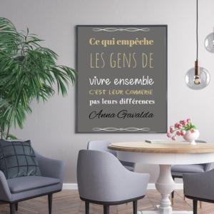 """tableau ou poster personnalisé """"vivre ensemble"""""""