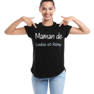 """t-shirt personnalisé femme """"maman de..."""""""