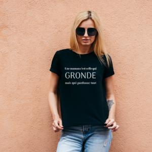 """t-shirt personnalisé femme """"une maman"""""""