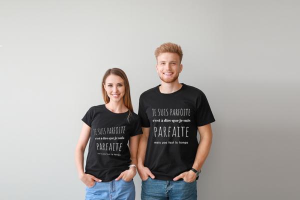 """t-shirt personnalisé femme """"je suis parfoite"""""""