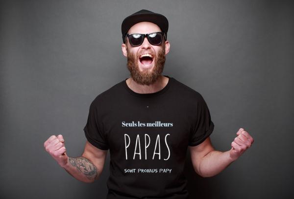 """t-shirt personnalisé homme """"meilleurs papas"""" citation"""