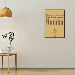 """tableau ou poster personnalisé réplique de film -rambo """"la guerre"""""""