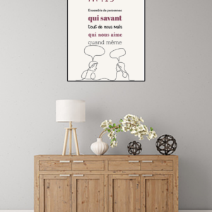 """tableau ou poster personnalisé """"amis"""""""