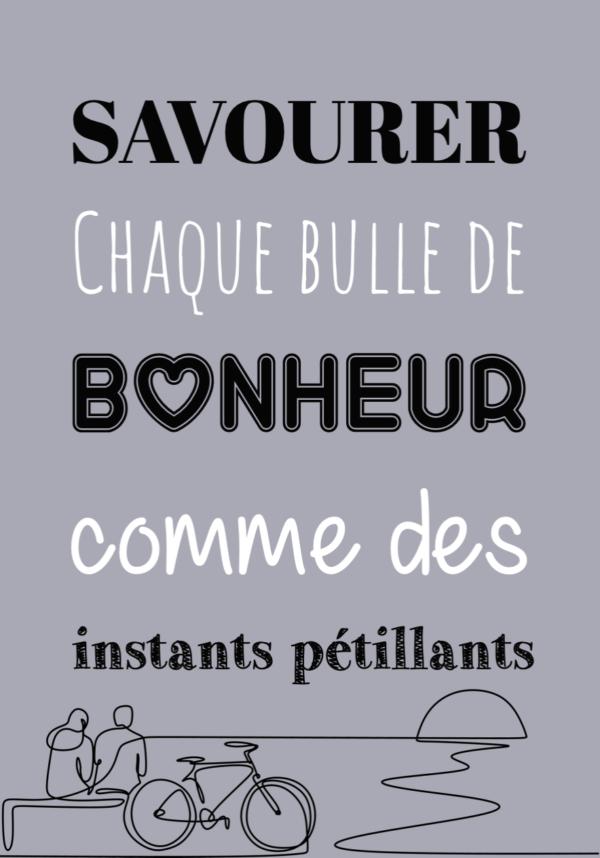"""tableau ou poster personnalisé """"bulle de bonheur"""""""