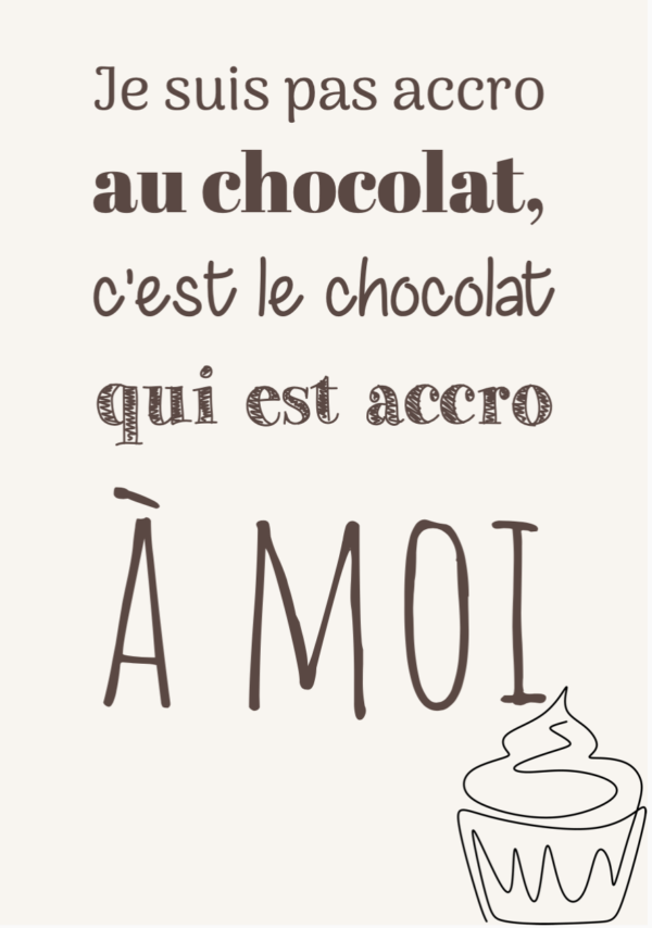 """tableau ou poster personnalisé """"chocolat"""""""