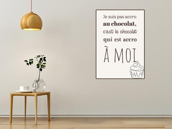 """tableau ou poster personnalisé citation """"chocolat"""""""