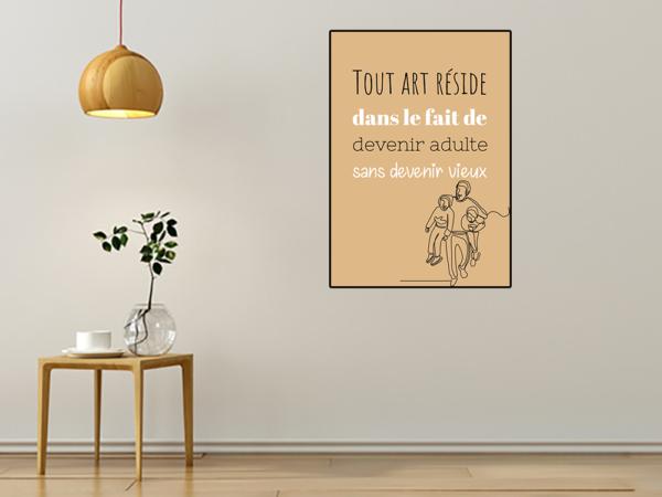 """tableau ou poster personnalisé """"devenir adulte"""""""