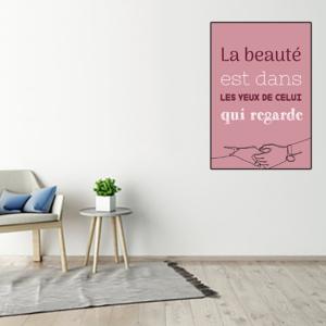 """tableau ou poster personnalisé citation """"la beauté"""""""