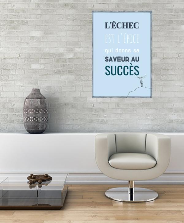 """tableau ou poster personnalisé citation """"succès"""""""