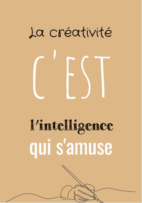 """tableau ou poster personnalisé """"la créativité"""""""