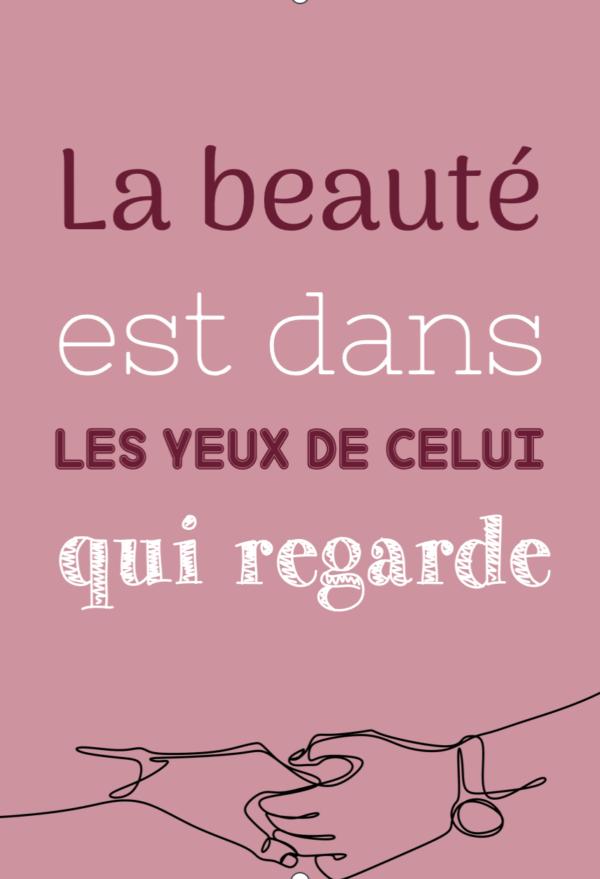 """tableau ou poster personnalisé """"la beauté"""""""