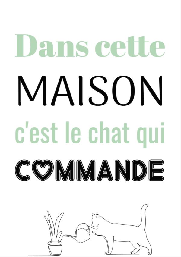 """tableau ou poster personnalisé """"le chat qui"""""""