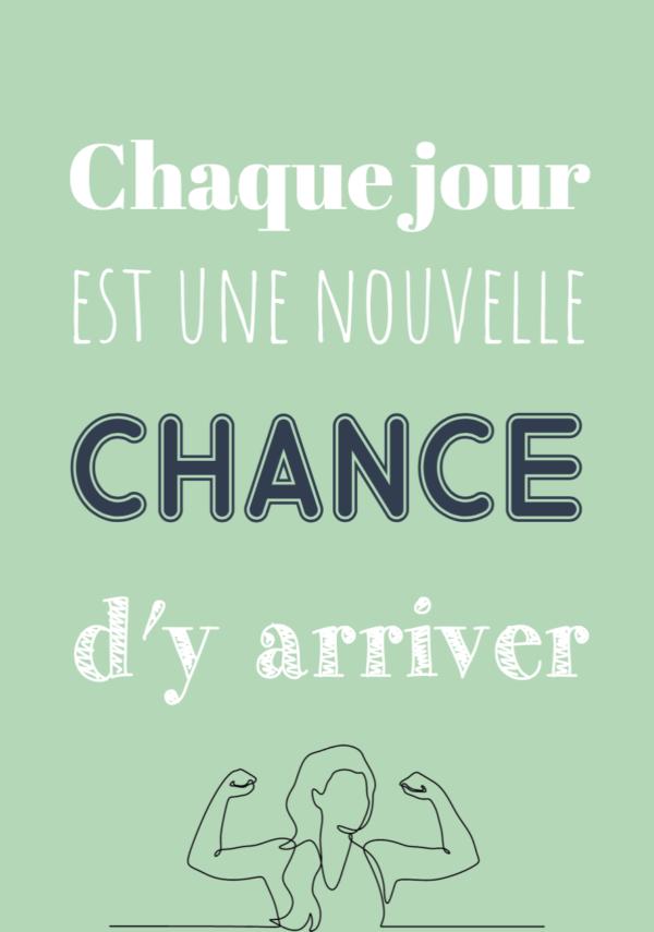 """tableau ou poster personnalisé """"une nouvelle chance"""""""