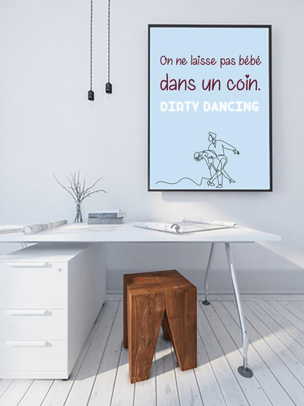 """tableau ou poster personnalisé réplique de film -Dirty dancing """"bébé"""""""