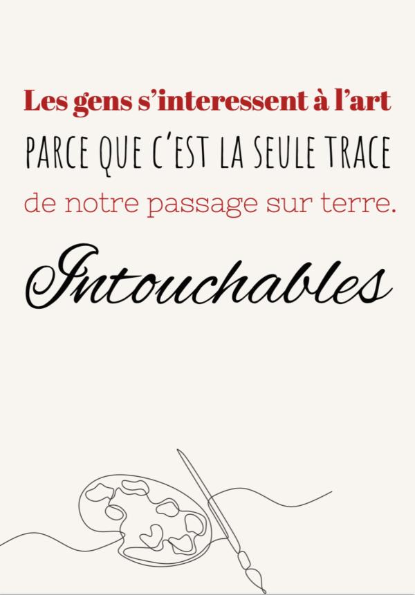 """tableau ou poster personnalisé réplique de film -Intouchables """"l'art"""""""
