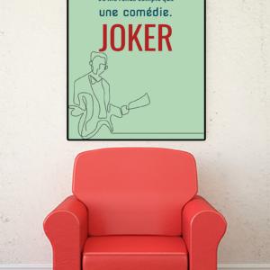 """tableau ou poster personnalisé réplique de film -Joker """"une tragédie"""""""
