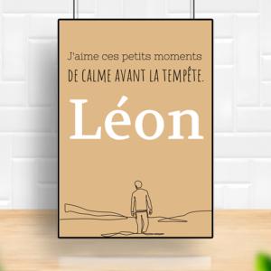 """tableau ou poster personnalisé réplique de film -Léon """"ces petits moments"""""""