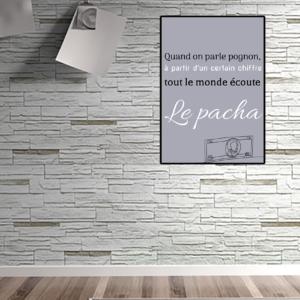 """tableau ou poster personnalisé réplique de film """"quand on parle pognon"""" Le pacha"""