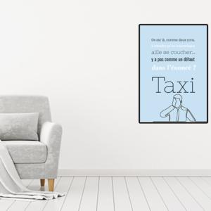 """tableau oui poster personnalisé réplique de film -taxi """"un insomniaque"""""""