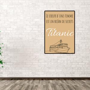 """tableau ou poster personnalisé réplique e film -Titanic """"le coeur d'une femme"""""""