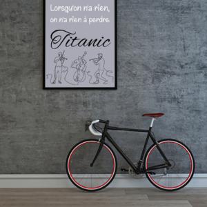 """tableau ou poster personnalisé réplique de film -Titanic """"rien à perdre"""""""