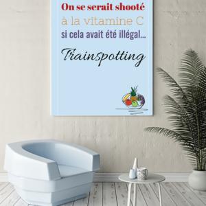 """tableau ou poster personnalisé réplique de film Trainspotting """"la vitamine C"""""""