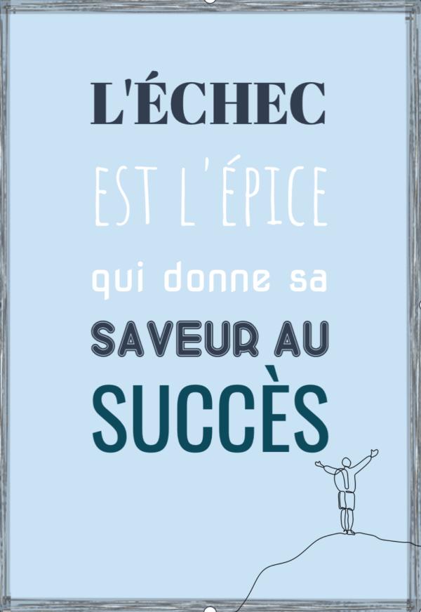 """tableau ou poster personnalisé """"succès"""""""