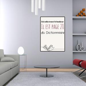"""Tableau ou poster personnalisé texte """"page 28"""""""