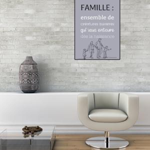 """tableau ou poster personnalisé """"famille"""""""
