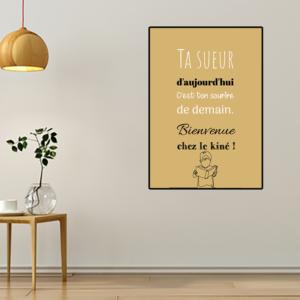 """tableau ou poster personnalisé chez le kiné """"ton sourire de demain"""""""