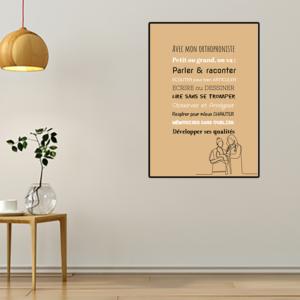 tableau ou poster personnalisé chez l'orthophoniste