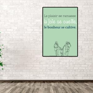 """tableau ou poster personnalisé citation """"le plaisir"""""""