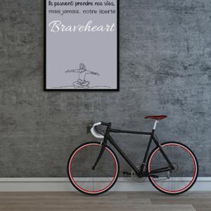 """tableau ou poster personnalisé réplique de film """"notre liberté"""" Braveheart"""