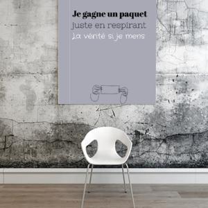 """tableau ou poster personnalisé réplique de film La vérité si je mens """"un paquet"""""""