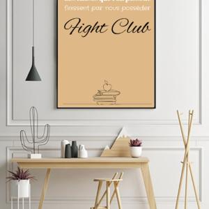 """tableau ou poster personnalisé de réplique de film comme fiche club """"les choses"""""""