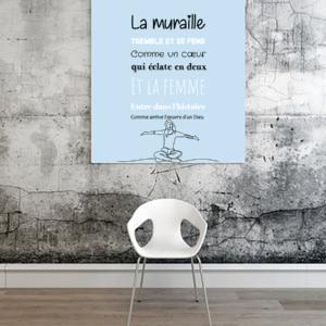 """Tableau ou poster paroles de chanson de Daniel Balavoine """"dieu que c'est beau"""""""